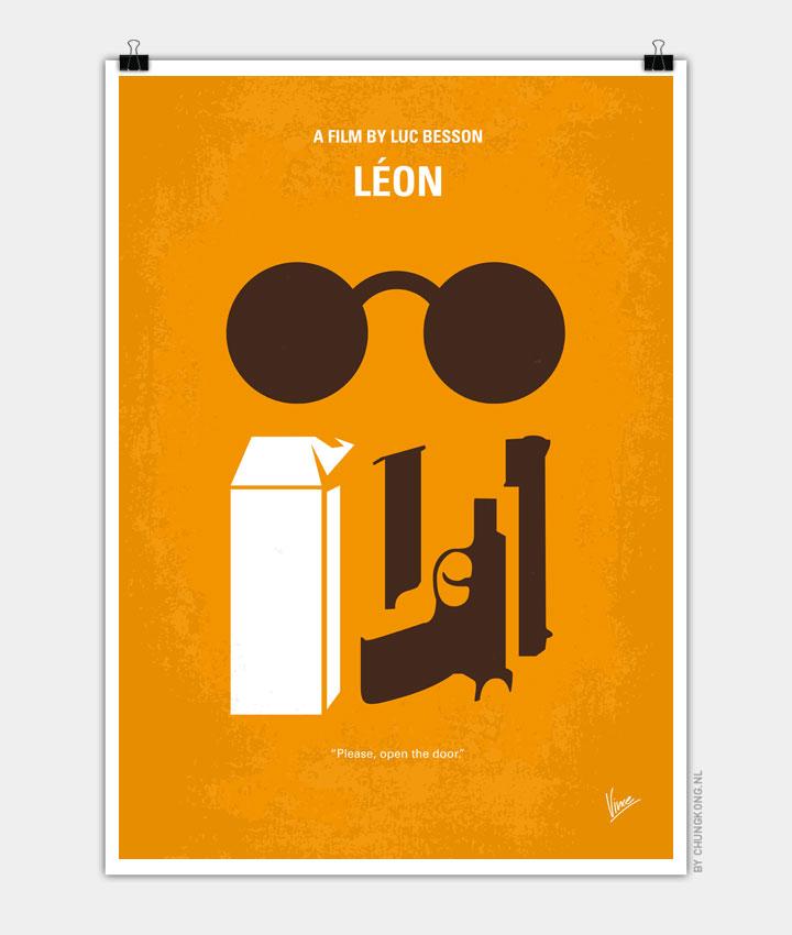 No239 My LEON minimal movie poster 720px