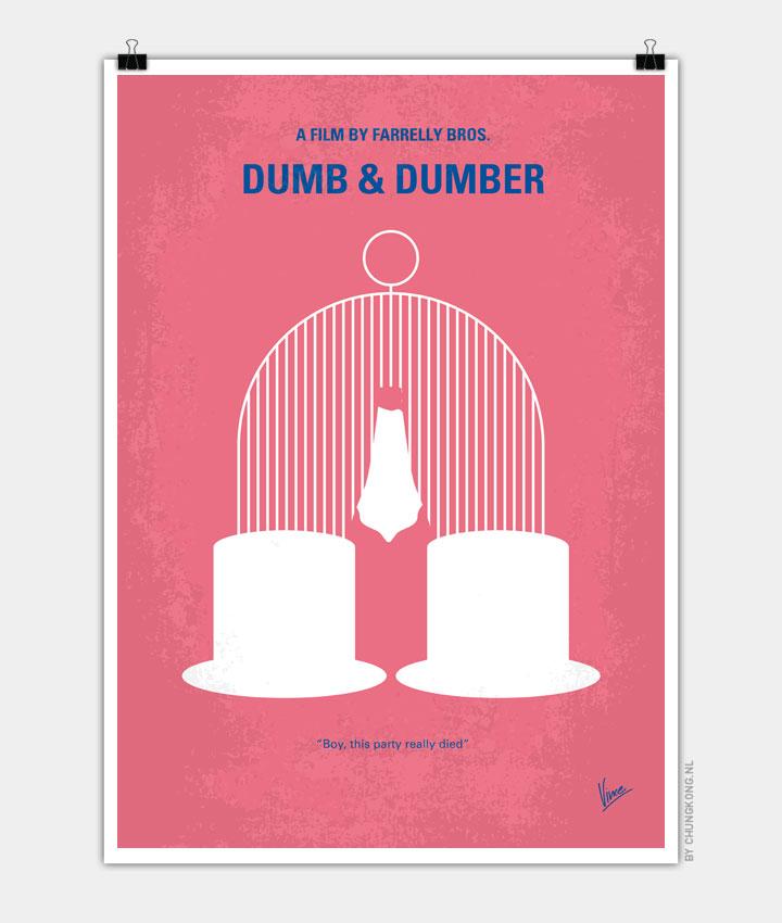 No241 My Dumb & Dumber minimal movie poster 720px