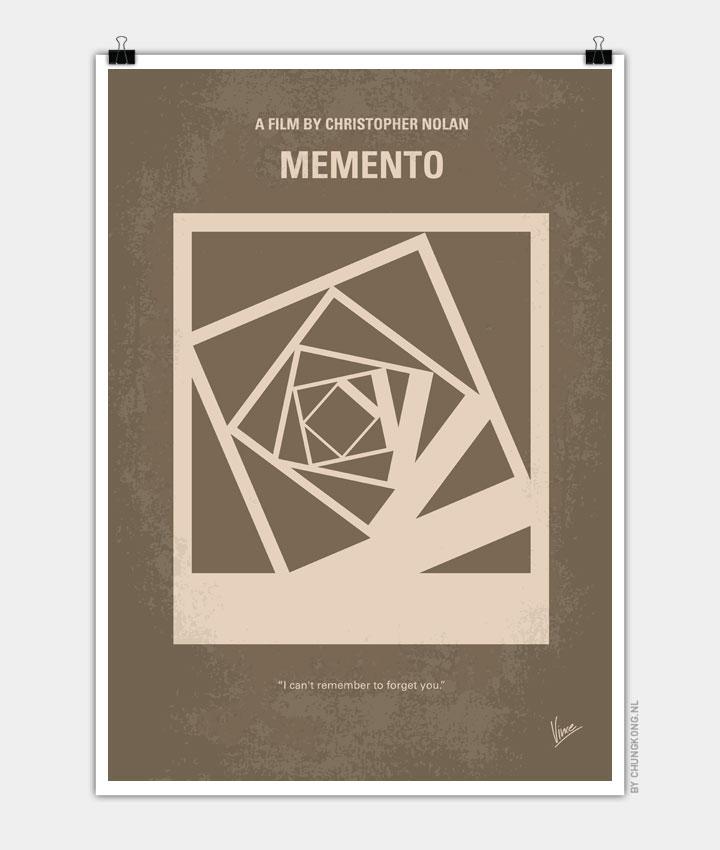 No243 My Memento minimal movie poster 720px