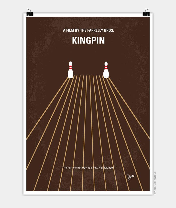 No244 My KINGPIN minimal movie poster 720px