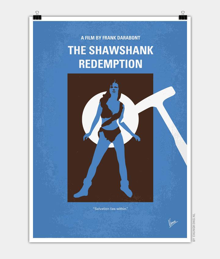 No246 My THE SHAWSHANK REDEMPTION minimal movie poster 720px