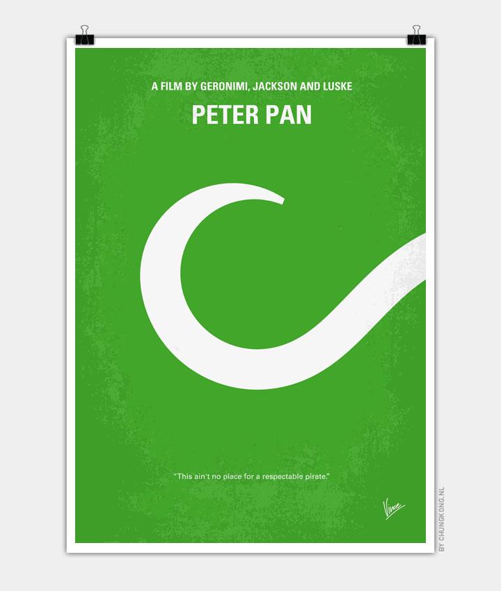 No248 My PETER PAN minimal movie poster 720px