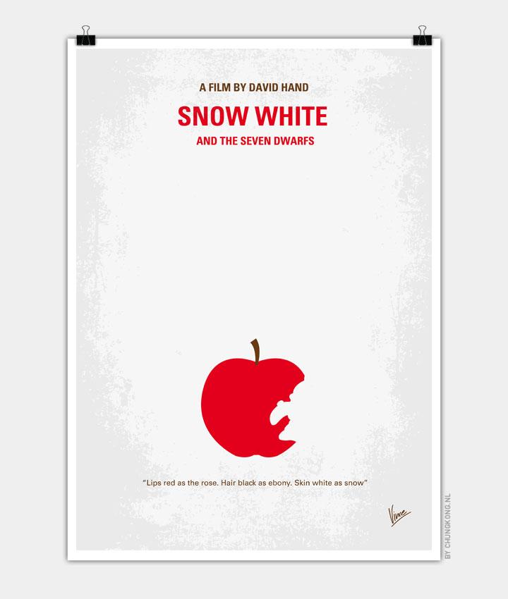 No252 My SNOW WHITE minimal movie poster 720px