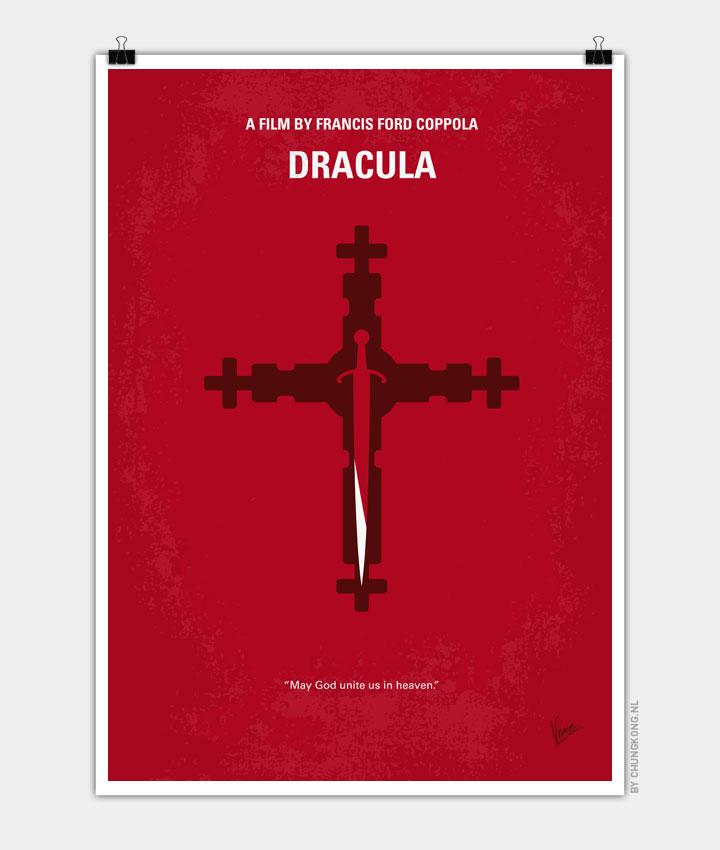 No263 My DRACULA minimal movie poster 720PX