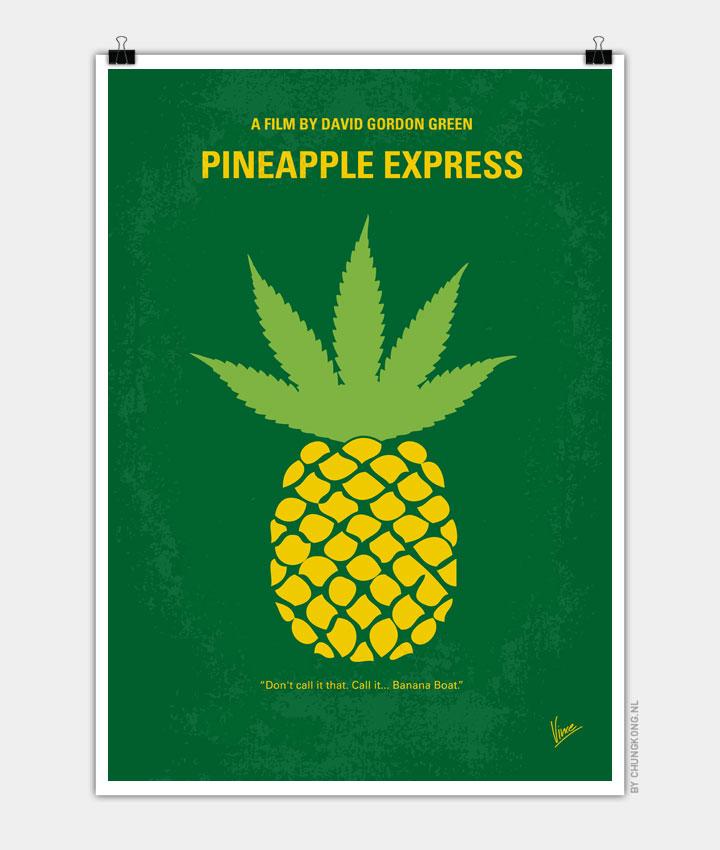 No264-My-PINEAPPLE-EXPRESS-minimal-movie-poster720X850PX