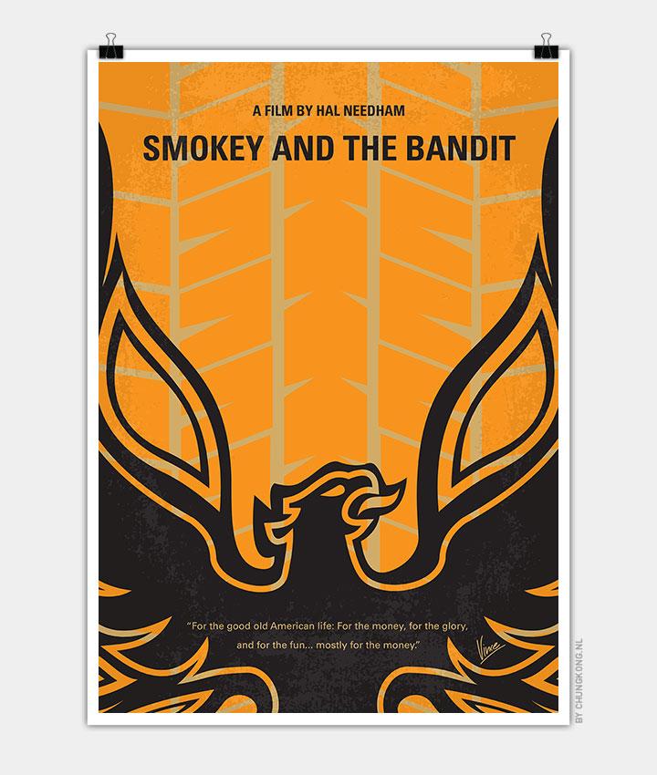 No398-My-smokey-and-the-bandits-minimal-movie-poster-720px