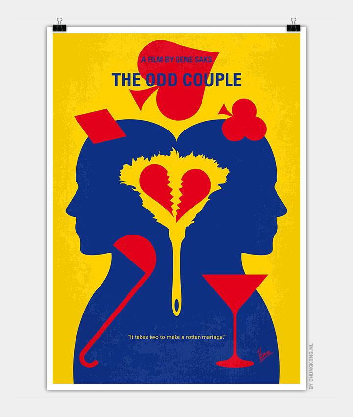 No421-My-The-Odd-Couple-minimal-movie-poster-720px