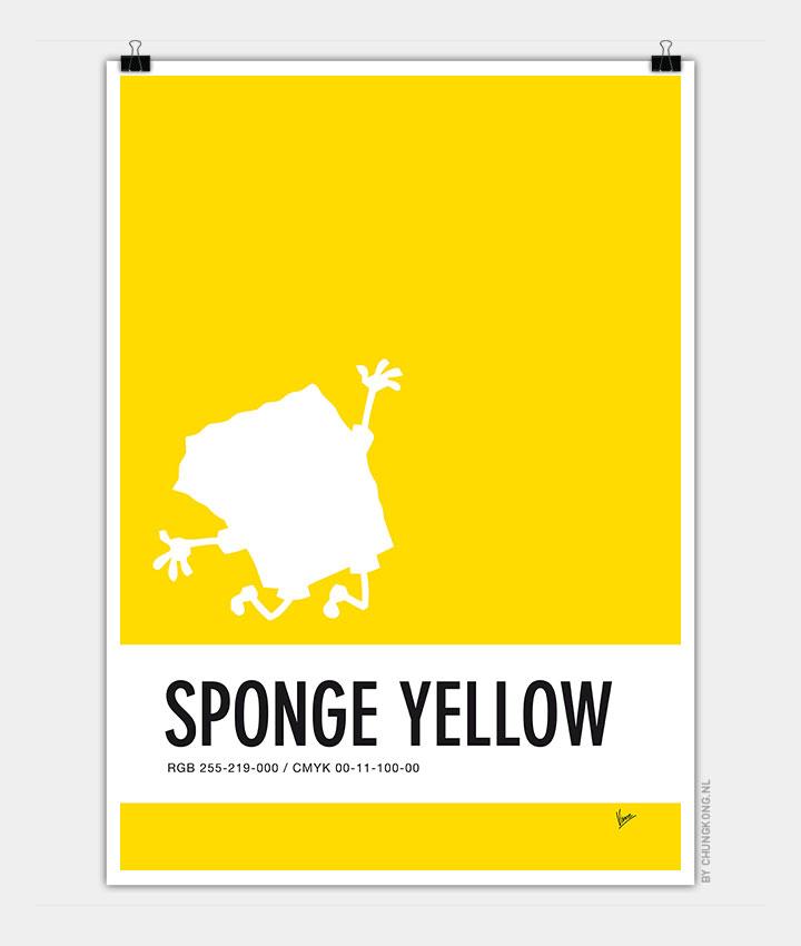 No10 My Minimal Color Code poster Spongebob - CHUNGKONG