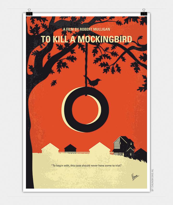 No844 My To Kill A Mockingbird Minimal Movie Poster