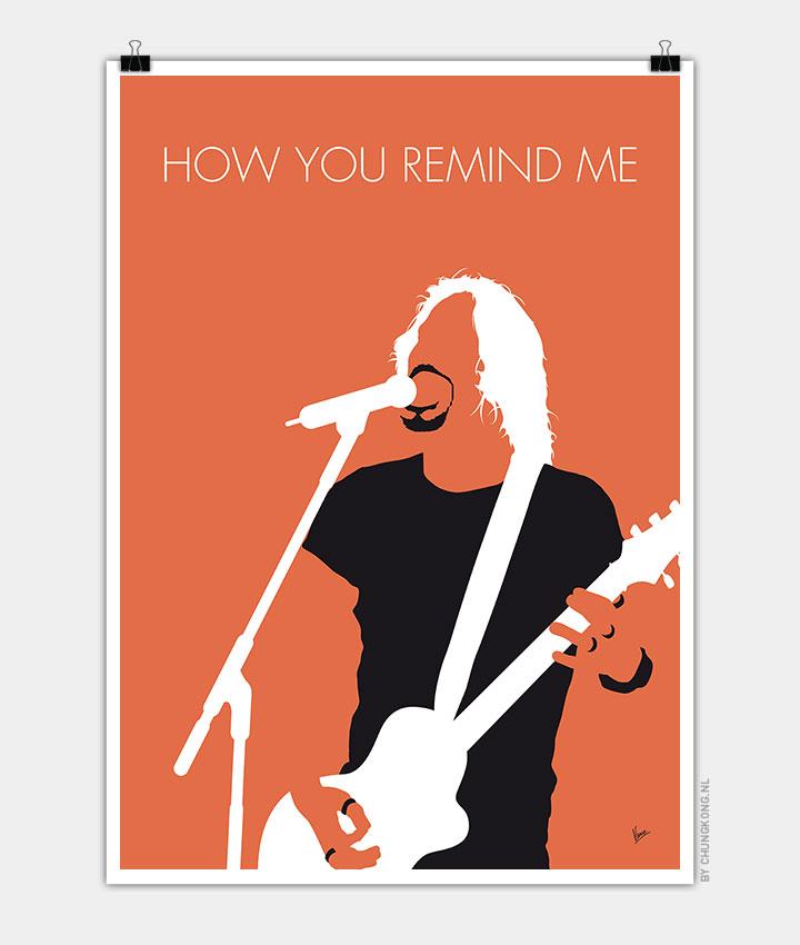 No183 MY Nickelback Minimal Music Poster