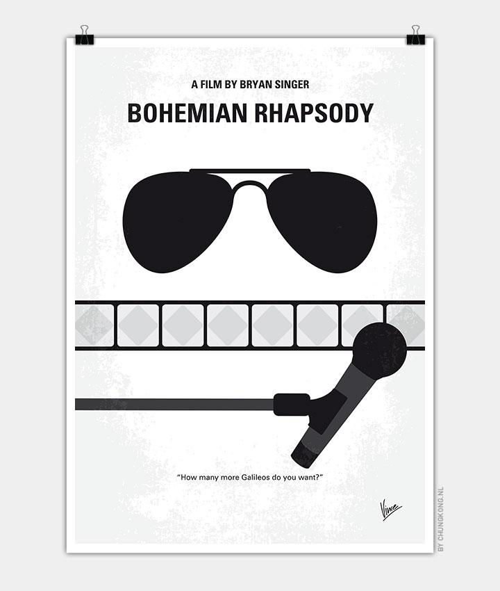 No1038 My Bohemian Rhapsody Minimal Movie Poster