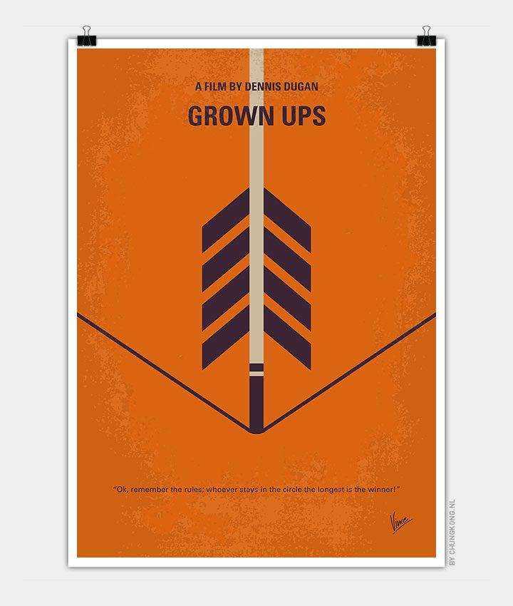 No1059 My GROW UPS minimal movie poster - CHUNGKONG