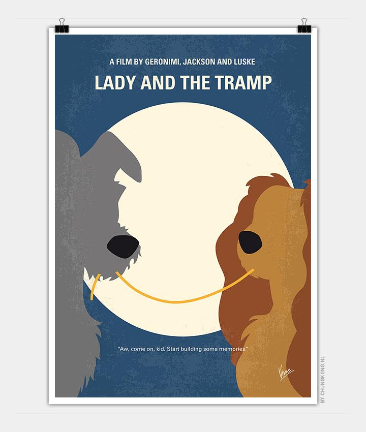 No1194 My Lady And The Tramp Minimal Movie Poster Chungkong